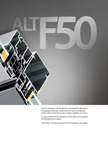 Alutech Systems ALT F50 Curtain Wall System Download front cover